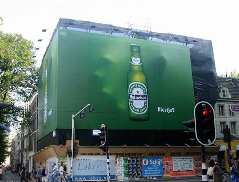 Effective And Creative Heineken Outdoor Billboard Advertisement