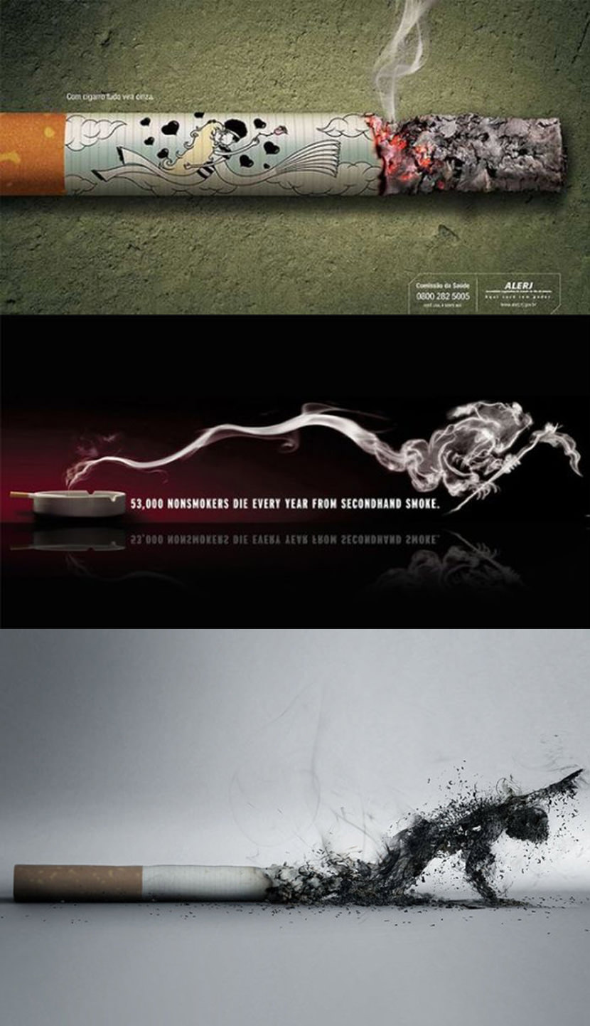 12 creative guerrilla quit smoking advertisement