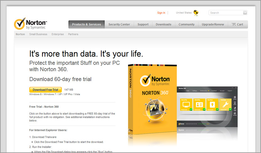 Download Norton 360 - Free 60 Days Trial