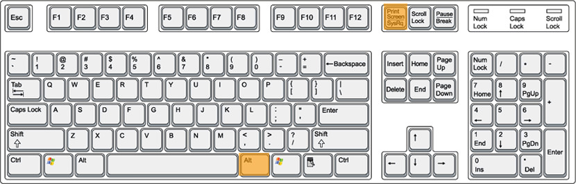 windows keyboard capture print screen