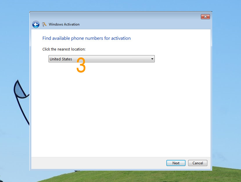 How to Activate Windows 7 via Phone Activation 'slui.exe 4' Client