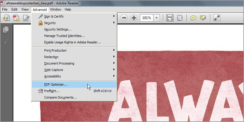 Adobe acrobat pdf optimizer Free Download