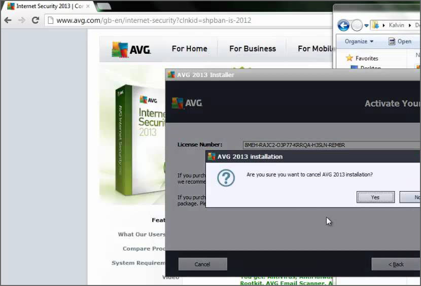 avg internet security license key