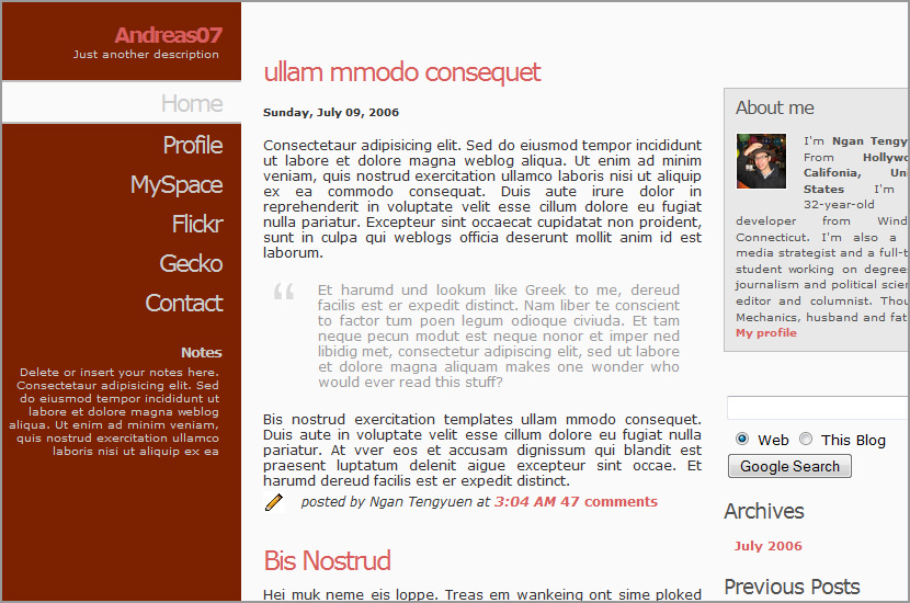 andreas 07 blog code free download templates