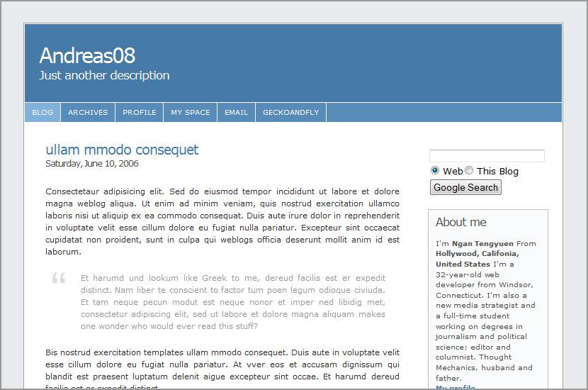 google blogspot andreas 08 code templates