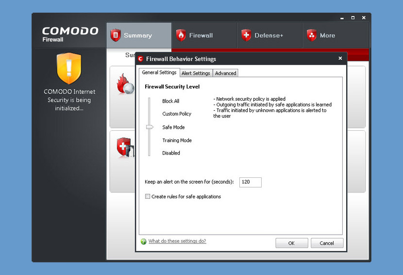 cis overview firewall summary comodo free