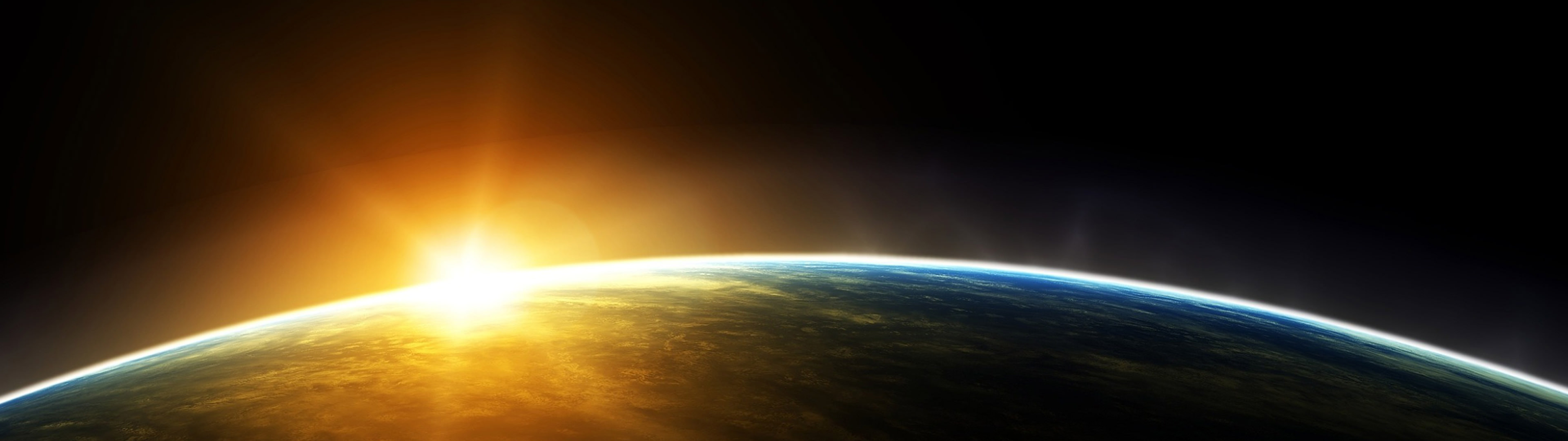 Download Space Sun [ 3840 x 1080 ...