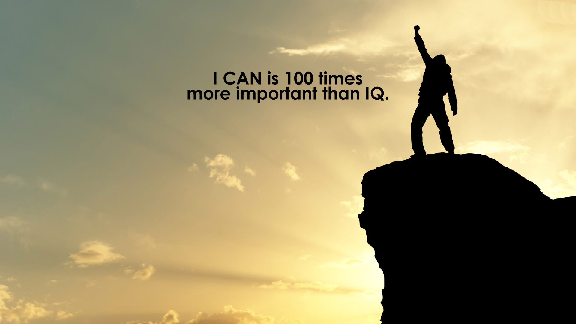 40 motivational and inspirational quotes posters i can is 100 times more important than iq
