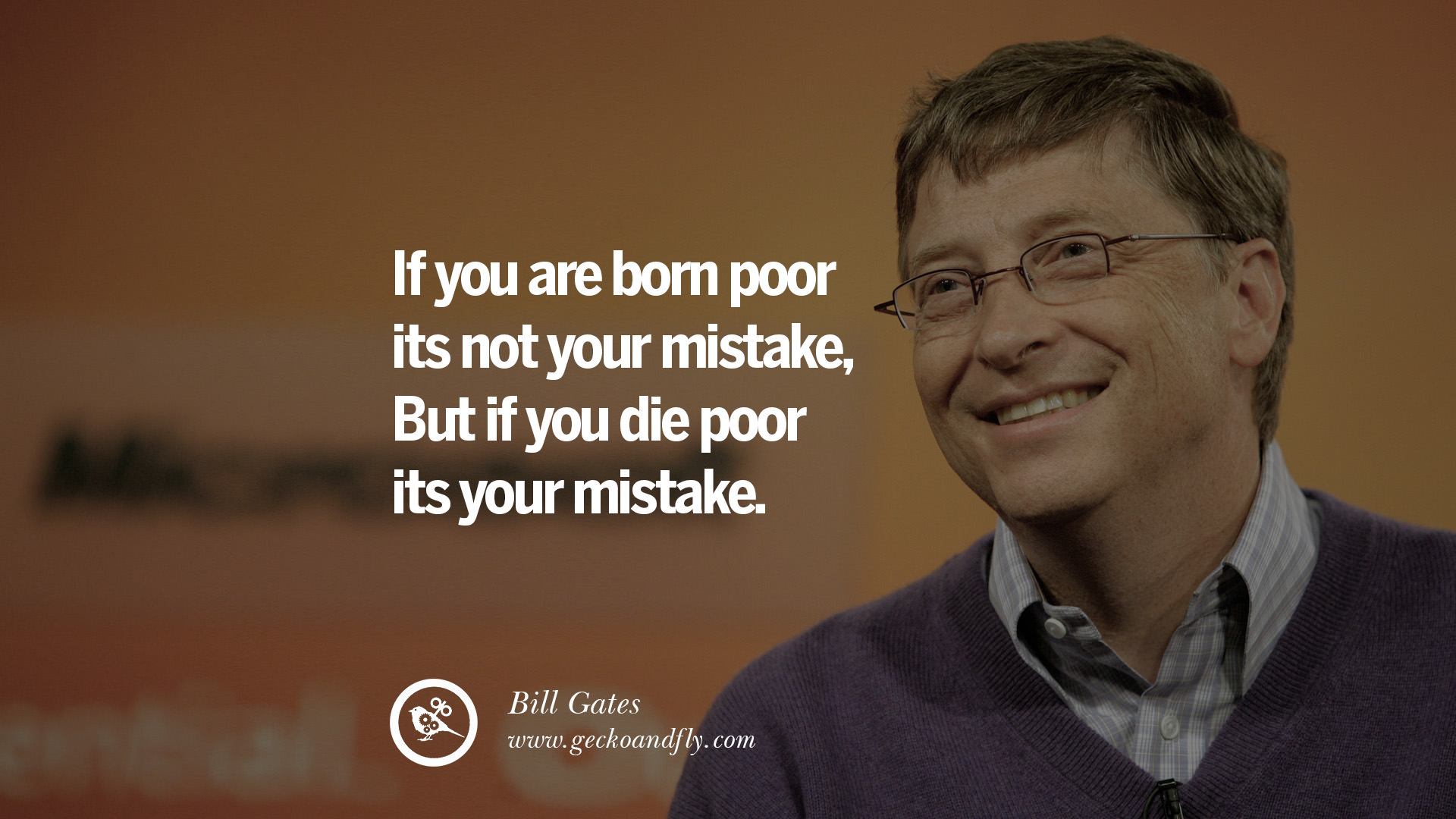 Poor Life Quotes Stunning 15 Inspiring Bill Gates Quotes On Success And Life  Geckoandfly 2018