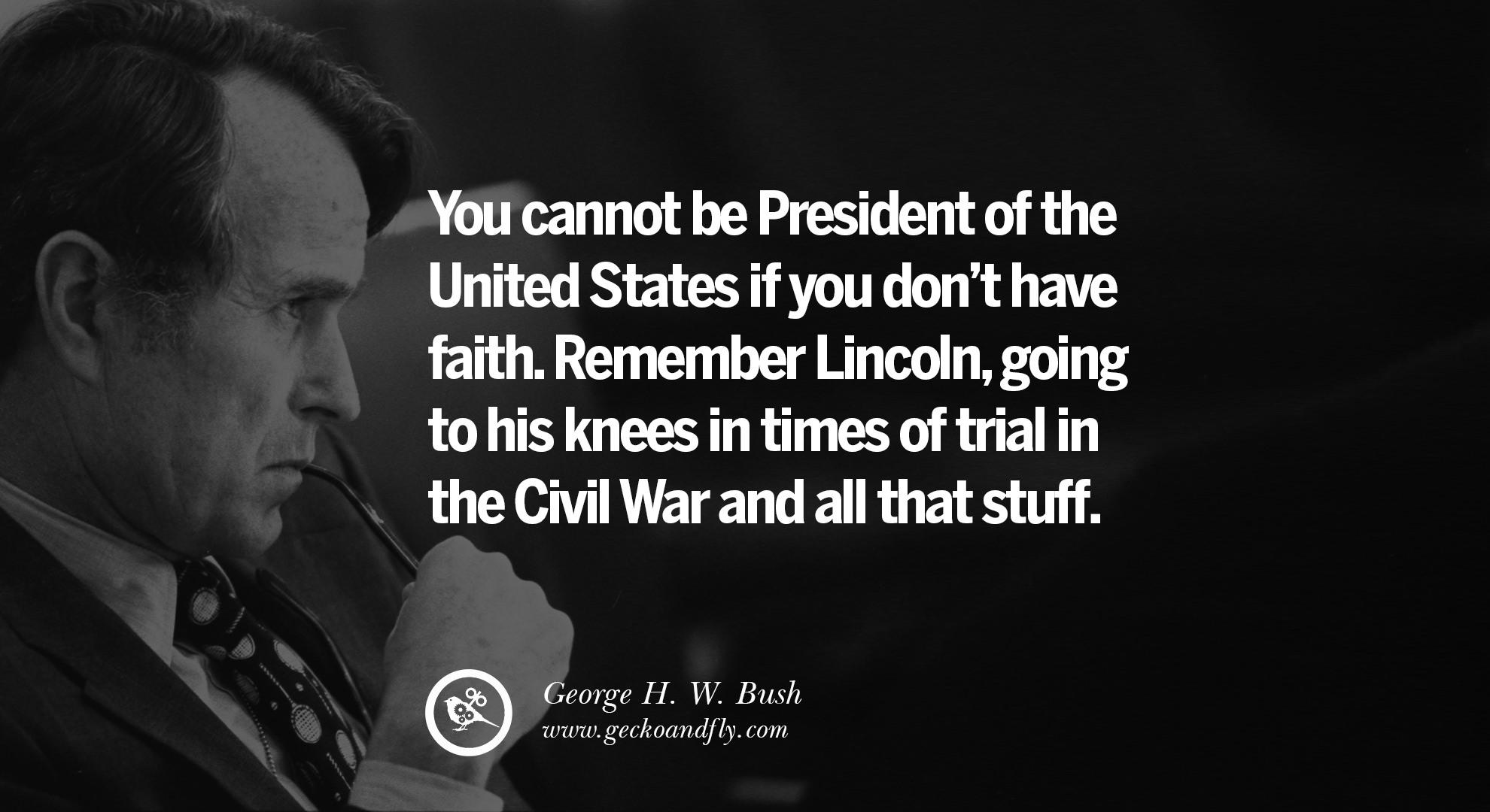 Presidents Quotes 13 Famous George H.wbush Quotes On Freemason Illuminati And