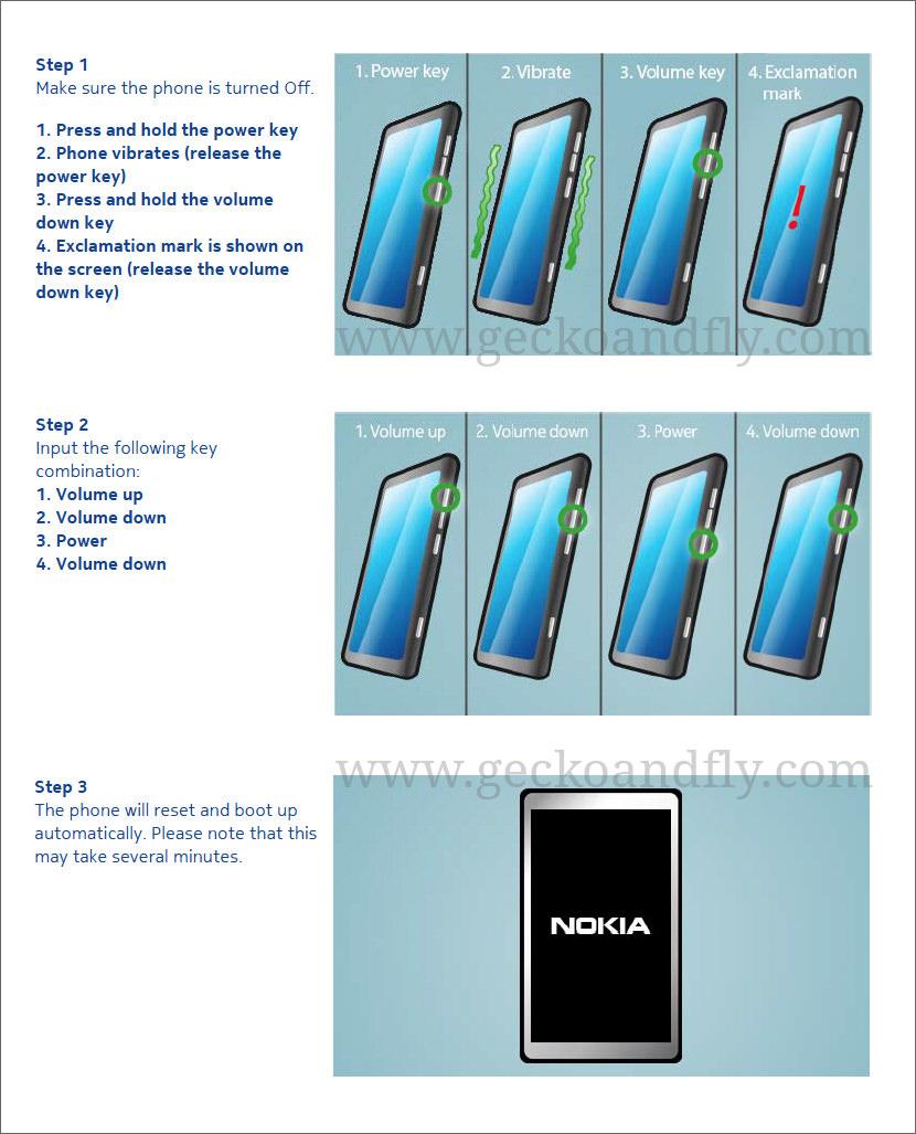 How to Hard Reset Nokia Lumia 520, 800, 920, 1020 and 1520