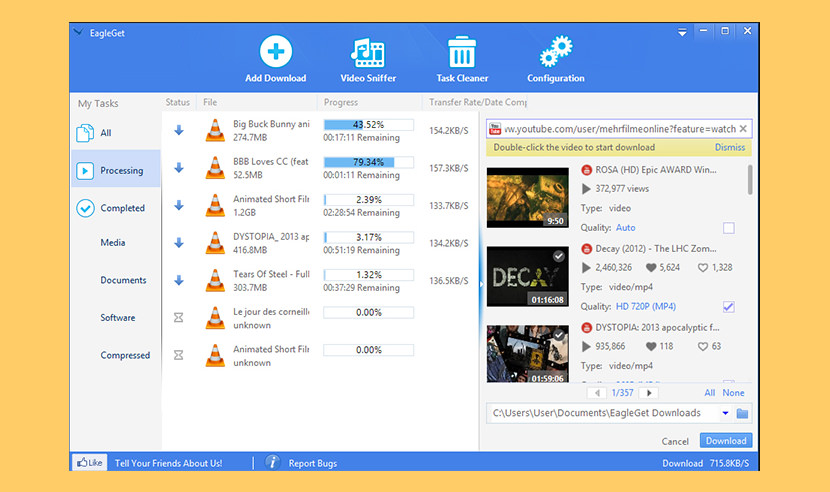 eagleget download manager Free Internet Download Managers IDM And Accelerator