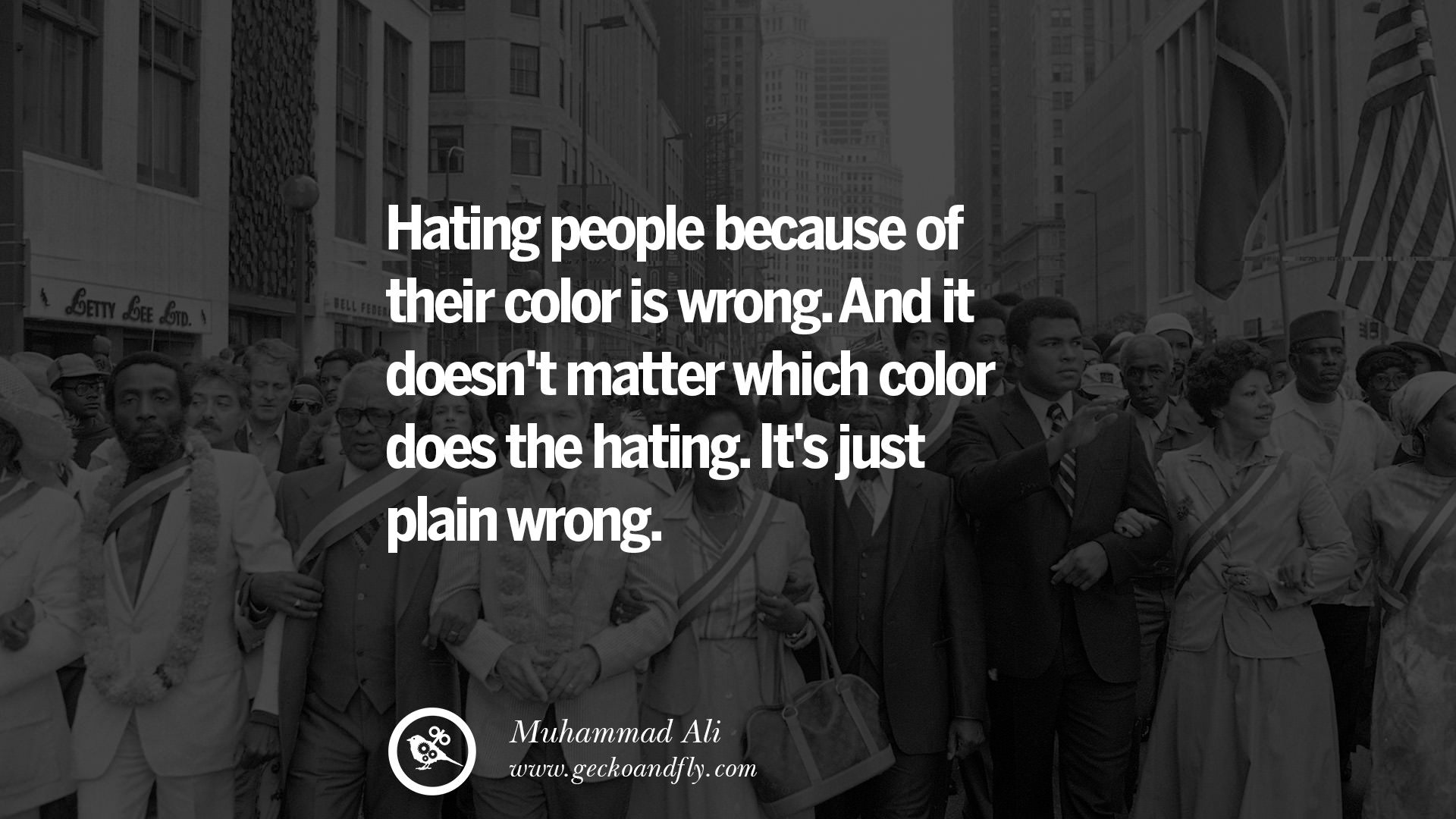Is hating people always wrong