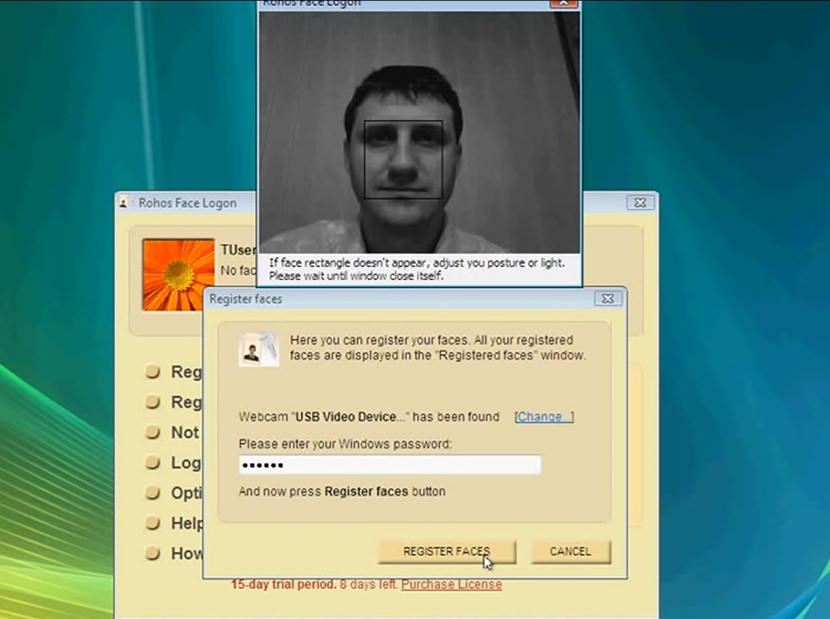 3 free face recognition software to unlock / login windows.