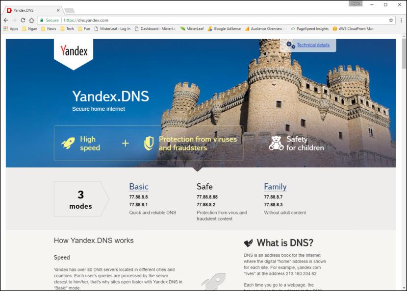 Yandex.DNS Family