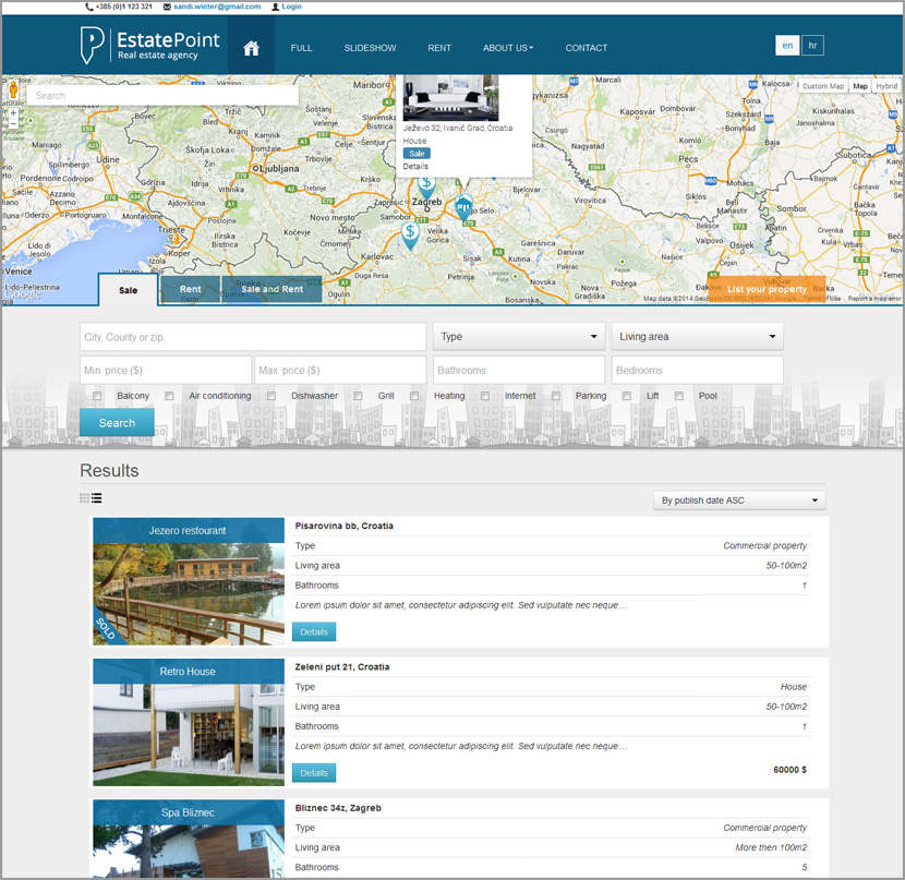 estate listing classified php script