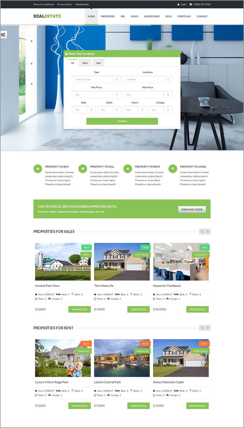 real estate responsive wordpress