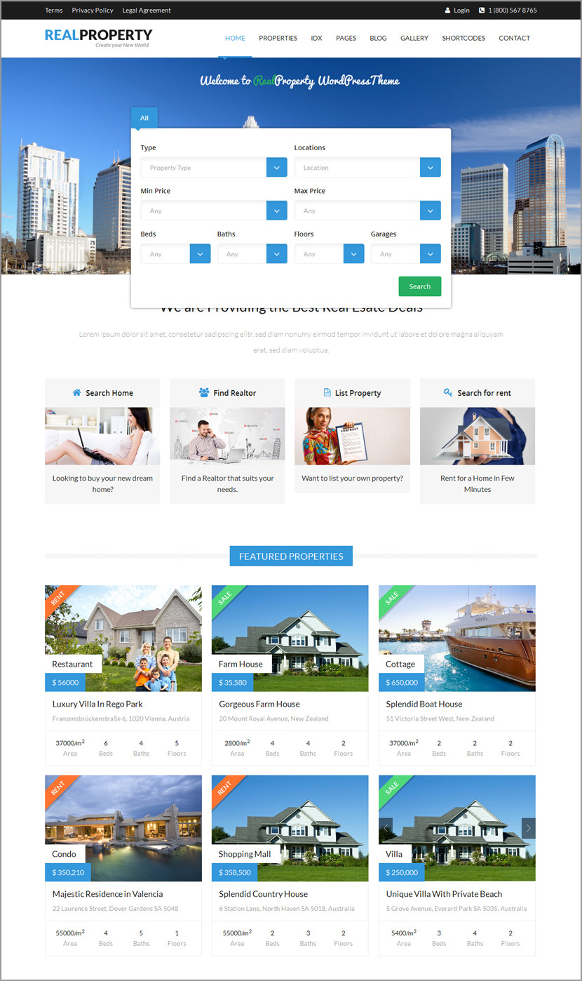 real property wordpress