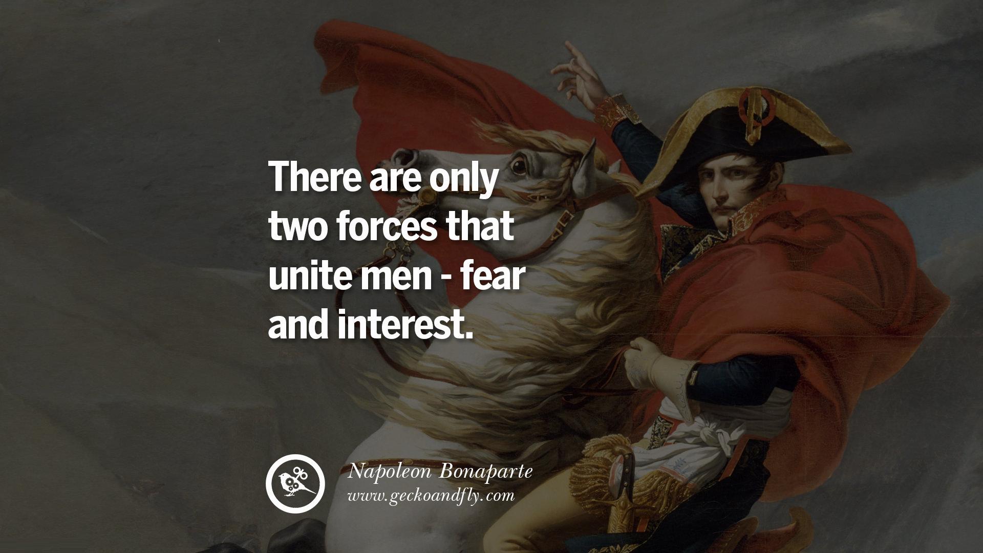Fear Quotes 40 Napoleon Bonaparte Quotes On War Religion Politics And