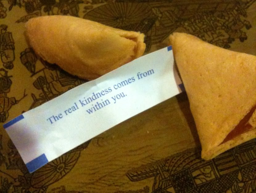 The real kindness comes from within you. Best Inspirational Chinese Japanese Fortune Cookie Quotes and Sayings On Life For Facebook And Tumblr