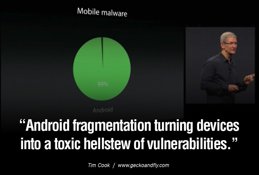 tim cook quote android malware Android fragmentation turning devices into a toxic hellstew of vulnerabilities Best Android Antivirus In Battery Usage, Low Memory Usage & Performance