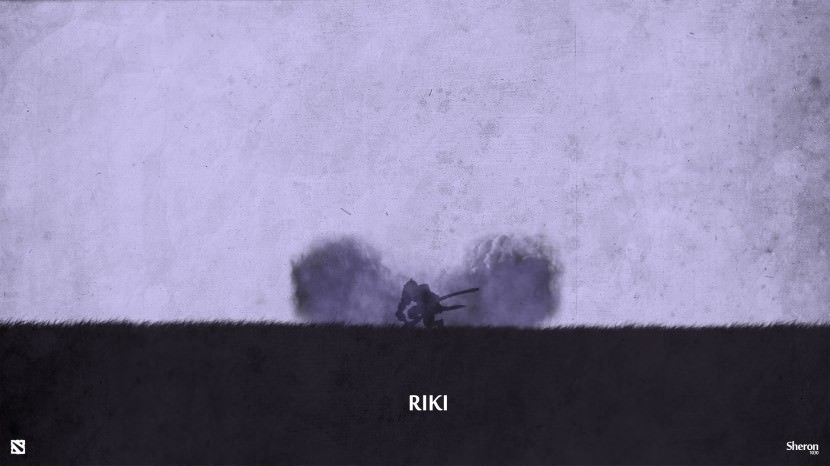Riki download dota 2 heroes minimalist silhouette HD wallpaper