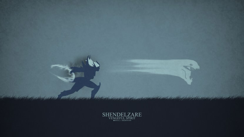 Vengful Spirit Shendelzare download dota 2 heroes minimalist silhouette HD wallpaper