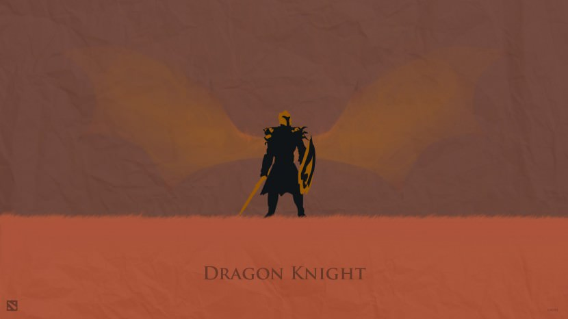 Dragon Knight download dota 2 heroes minimalist silhouette HD wallpaper