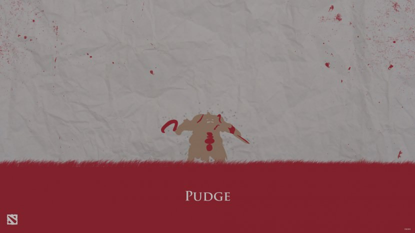 Pudge download dota 2 heroes minimalist silhouette HD wallpaper