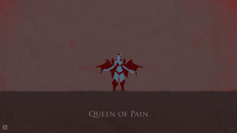Queen of Pain download dota 2 heroes minimalist silhouette HD wallpaper