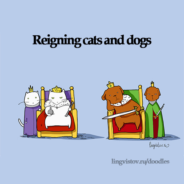 Reigning cats and dogs. 40 Funny Doodles For Cat Lovers and Your Cat Crazy Lady Friend grumpy tom talking nyan instagram pinterest facebook twitter comic pictures youtube