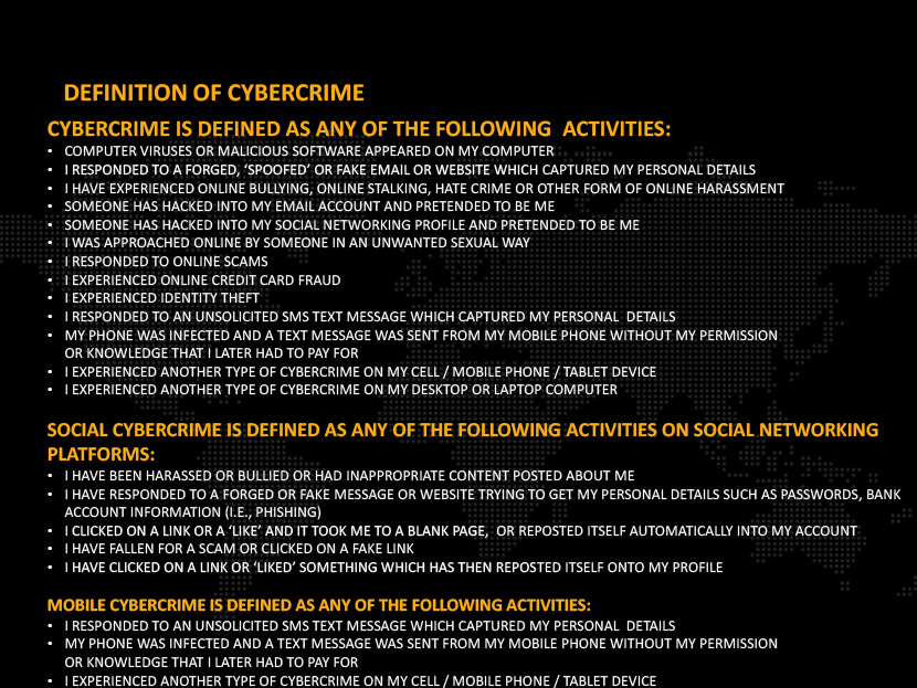 Definition of cybercrime - Cybercrime is defined as any of the following activities: