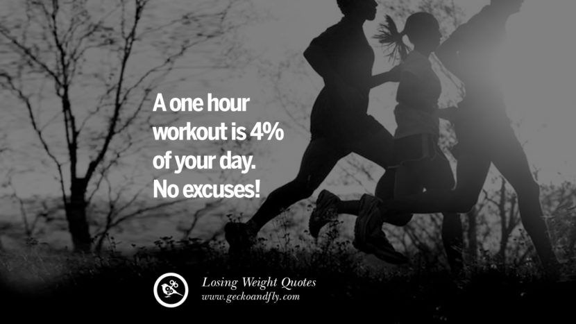 A one hour workout is 4% of your day. No excuses!