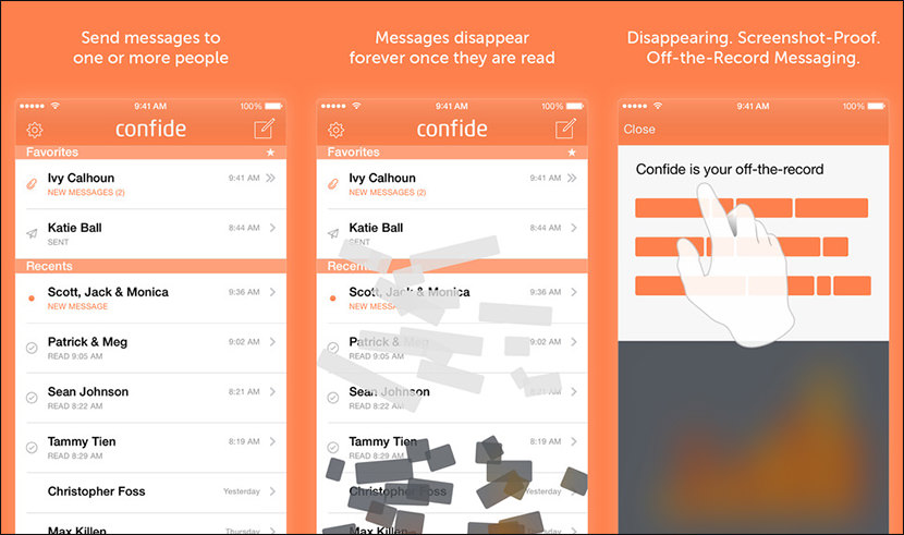 confide chat messenger Free Secure And Encrypted Text Messenger for iPhone iOS and Android