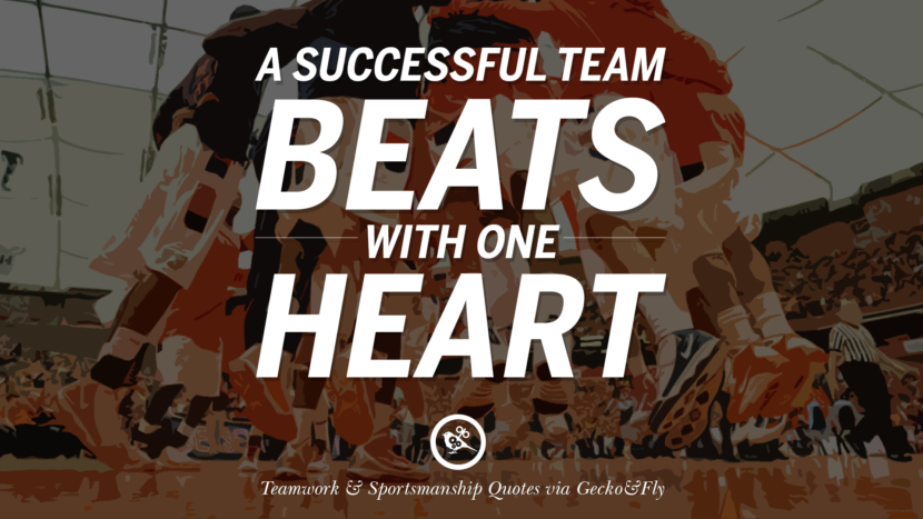 A successful team beats with one heart.