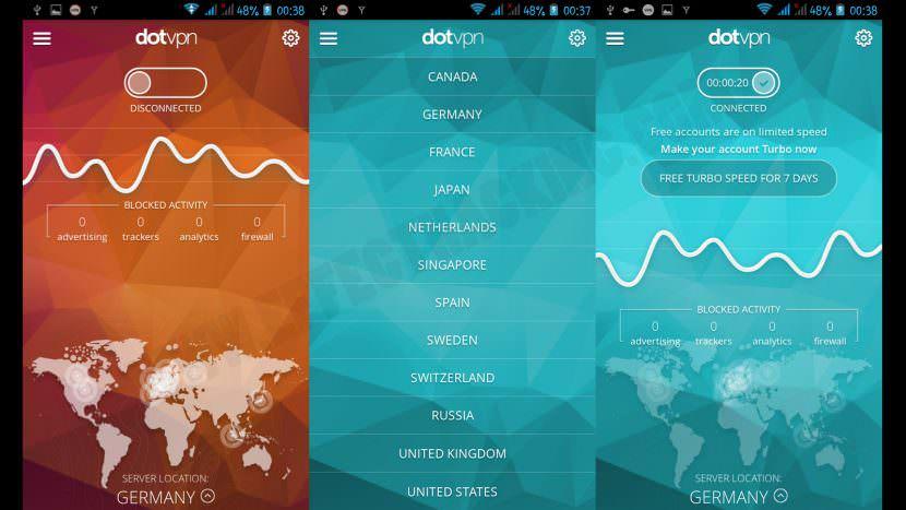 Dot VPN Screenshots Top 10 Free VPN Service With US UK Server With Best Speed