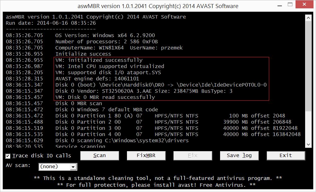 tdsskiller will not run windows 10