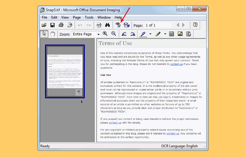 microsoft office document imaging