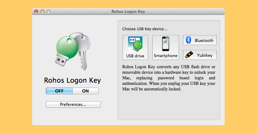 rohos logon USB Security Key for Locking and Unlocking Your PC