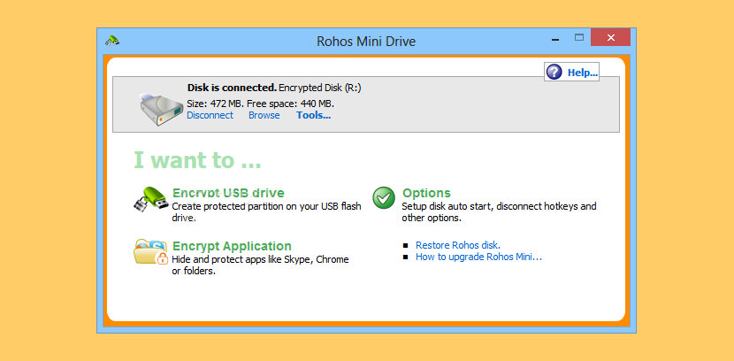 rohos mini drive USB Password Protection Locker with Encryption For Flash Drive