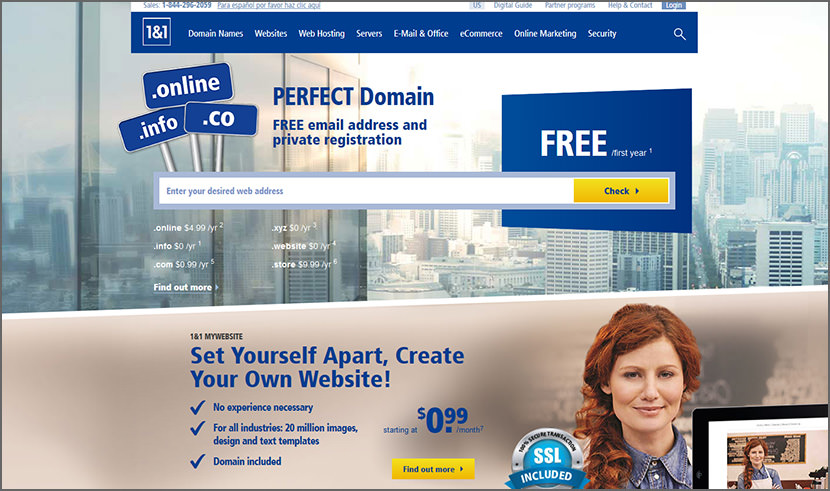 1and1 Cheap Yet Reliable Shared Web Hosting For WordPress Quality Best