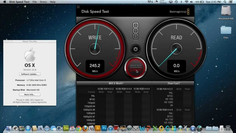 Blackmagic Disk Speed Test SSD And HDD Effective Read Write Speed