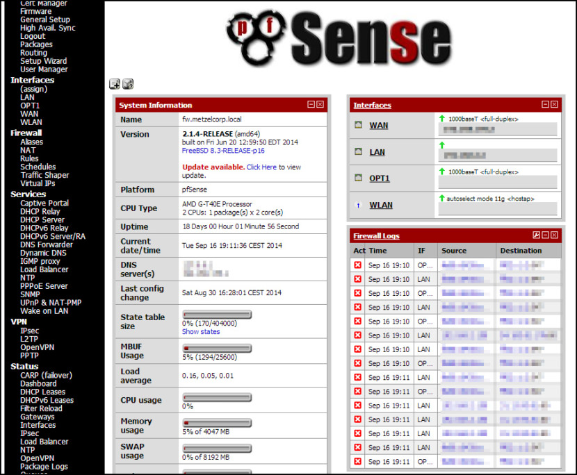 pfSense Free Router OS Turns Old PC Into High Performance Router And Enterprise Network Switch