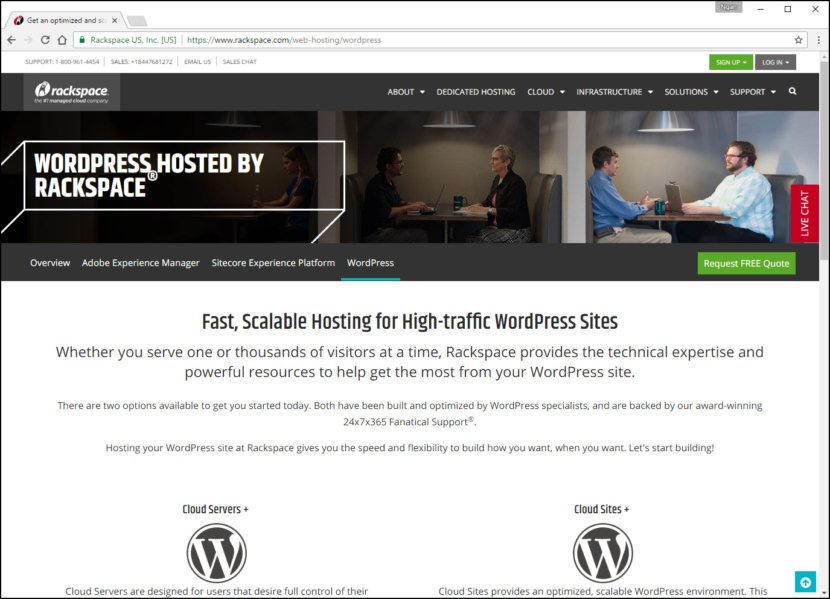 Rackspace WordPress Cloud Fastest WordPress Hosting With Varnish Cache, CDN & Daily Backup