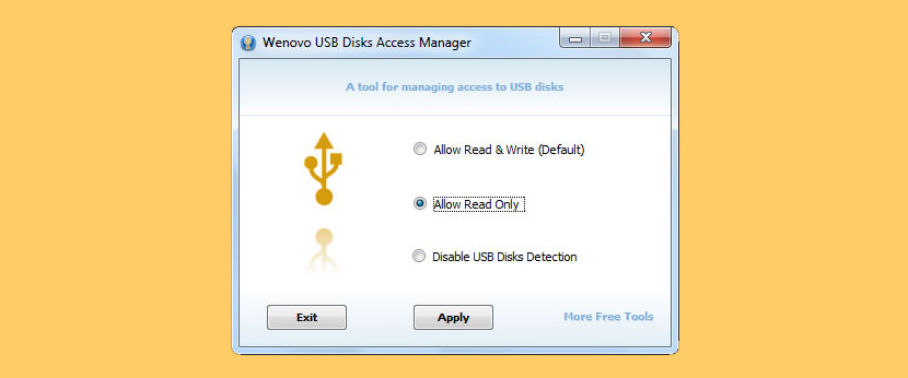 USB Disks Access Manager