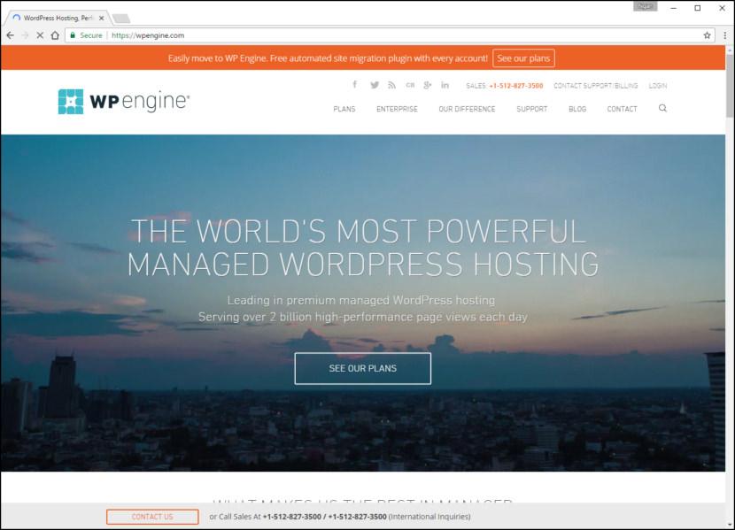 WP Engine Fastest WordPress Hosting With Varnish Cache, CDN & Daily Backup