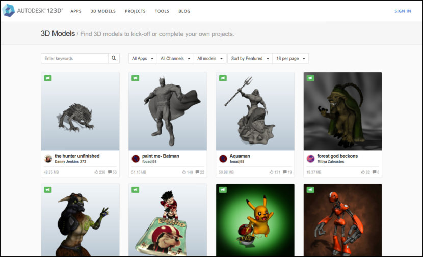 Autodesk 123D Sites For Downloading Free Rapid Prototyping Printing 3D Models