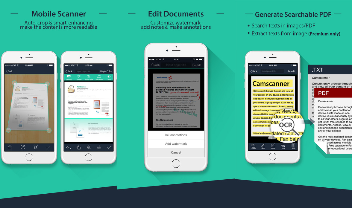 Image of: Grab Turn Your Smartphone Into Document Scanner With Character Recognition ocr Quickly Scan Documents Of All Kinds And Autooptimize The Scans Quality Using Geckoandfly Free Ocr Apps Scan And Convert To Text With Smartphones