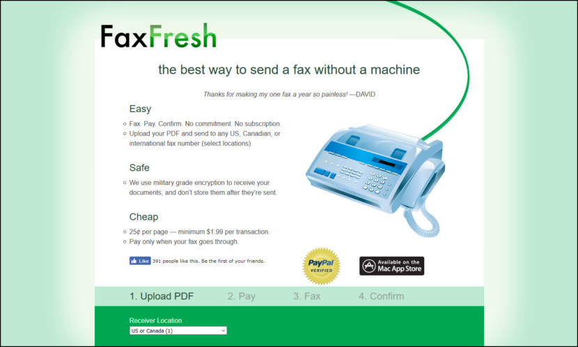 faxfresh pay per use