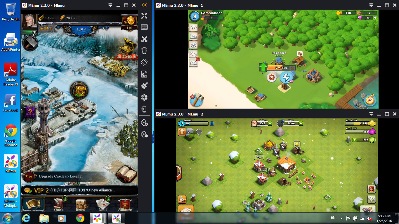 5 free android emulator to run android apps and games on